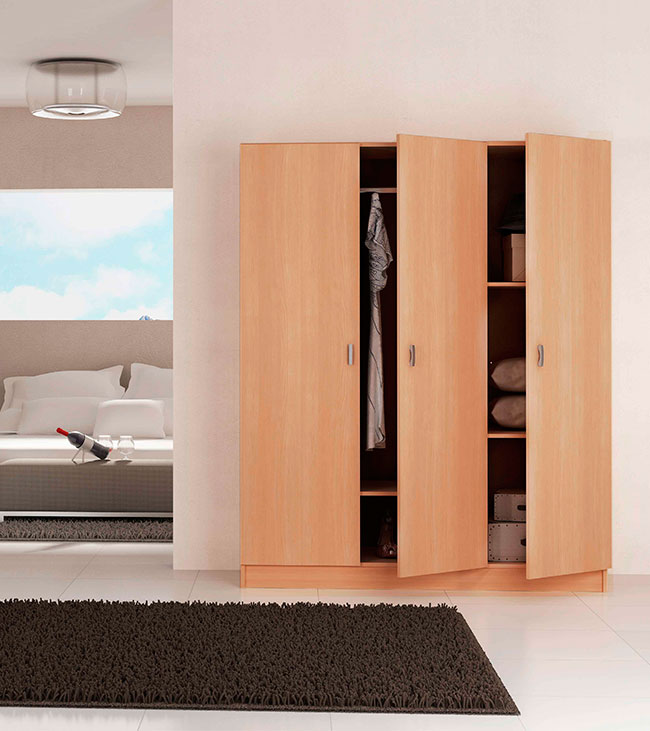 F brica de armarios con puertas abatibles en kit - Armario 3 puertas ...