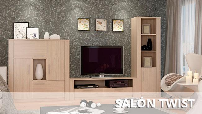 Muebles de sal n murales modulares y para television for Muebles kit salon
