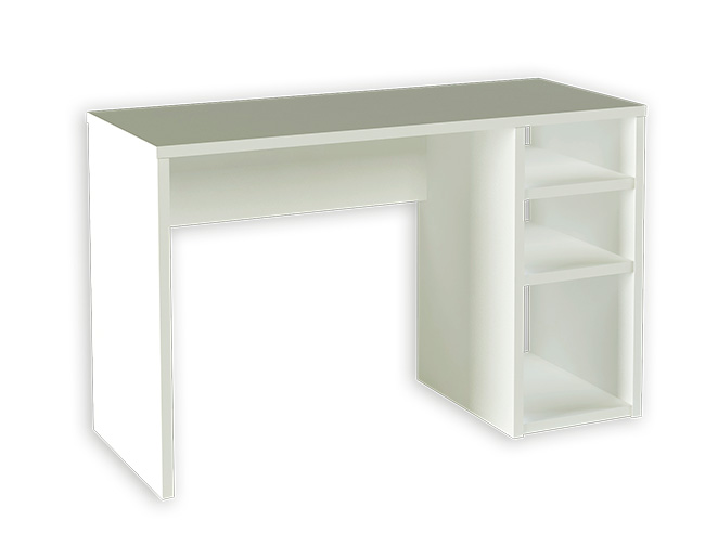 Mesa de ordenador en kit color blanca for Mueble zapatero multiestante