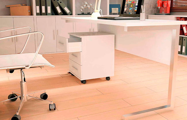 Muebles De Oficina Conjunto De Oficina Blanco Liso