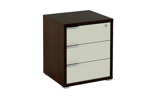 Conjunto de muebles de oficina color blanco combinado con for Muebles oficina blancos