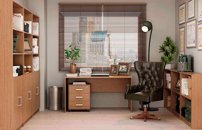 Muebles de oficina color nogal en kit fabricados en espa a for Conjunto muebles oficina