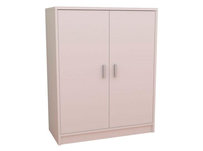 Armario zapatero con puertas abatibles k 9468 for Zapatero pequeno blanco